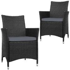 Gardeon PE Wicker Outdoor Bistro Chairs (Set of 2)