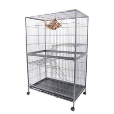 Huge Multi-level Cat/ Ferret/ Hamster Display Cage with wheels