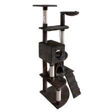 Cat Scratching Poles Post Furniture Tree 193cm Dark Grey