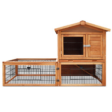Double Storey Pet Hutch with Under Run