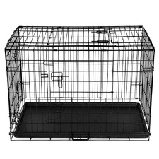Foldable Metal Dog Cage with Cover