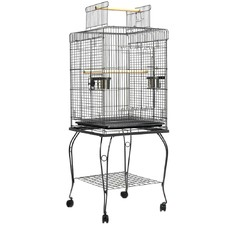 Large Rectangular Bird Cage with Perch