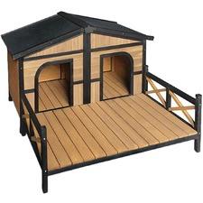 Model 2 Fir Wood Pet Kennel