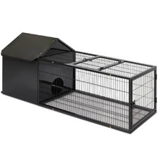 Black Metal Rabbit Hutch