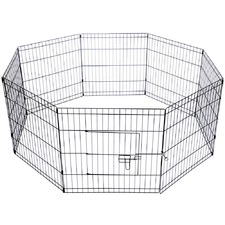 Black Sleek Frances Pet Play Pen