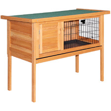 Rabbit Hutch with Hinged Lid