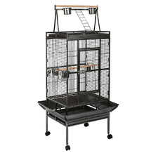 Black Metal Bird Cage with Perch