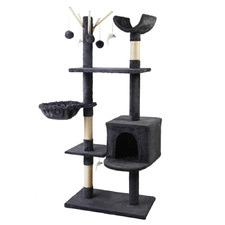 Dark Grey Maison Wooden Cat Tree