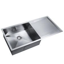 Rectangular Kitchen / Laundry Sink with Strainer Waste in Satin
