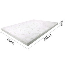 Memory Foam Mattress Topper with Bamboo Fabric Cover