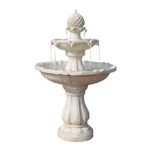 Ivory Solar Powered 3 Tier Water Fountain