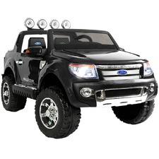 Black Kids' Ride-On Ford Ranger Car