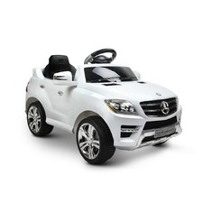 White Kids' Ride-On Mercedes Benz ML350 Car