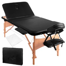 Portable Wooden 3 Fold Massage Table