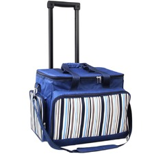Blue 6 Person Picnic Bag Trolley Set
