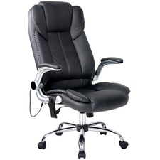 Black Faux Leather Office Massage Chair