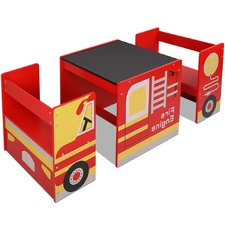Kids' Fire Truck Table & Chair Set