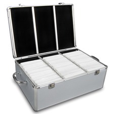 500 Capacity Aluminium CD Storage Case  sc 1 st  Temple u0026 Webster : cd storage box with lid  - Aquiesqueretaro.Com