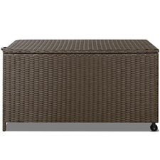 Faux Rattan Outdoor Storage Box