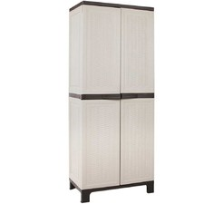 Tall Weave Outdoor Storage Cupboard