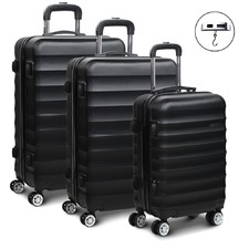 3 Piece Lightweight Hard Suitcase Set