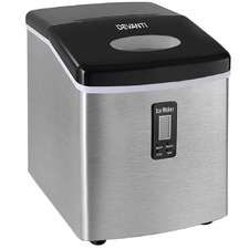 Silver Portable Ice Cube Maker