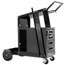 Black 4 Drawer Welding Trolley