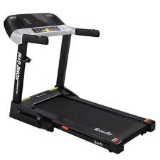 Black Everfit Electric Treadmill