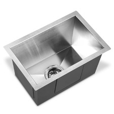 Silver Stainless Steel Sink with Waste Strainer