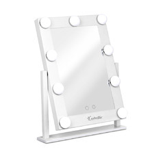 White Embellir Standing LED Make-Up Mirror