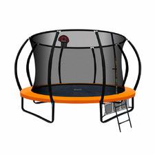9ft Orange Fitness Buddy Trampoline with Basketball Set