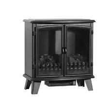 Black Devanti Double Door Electric Fireplace