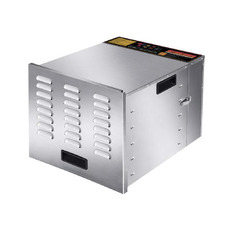 Silver Devanti 10 Tray Stainless Steel Food Dehydrator