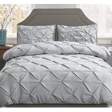 Grey Adriana Quilt Cover Set