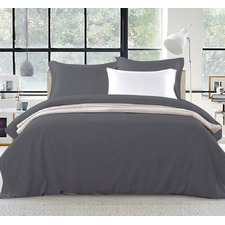 Charcoal Adriana Classic Quilt Cover Set