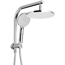 Silver 23cm Round Rain Shower Head & Wall Arm