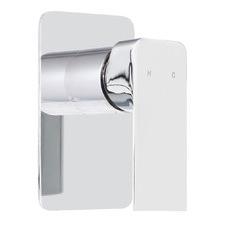 Silver Brass Bathroom Shower Mixer