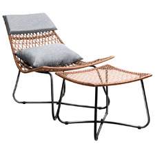 Charlton PE Wicker Outdoor Lounge Chair Set