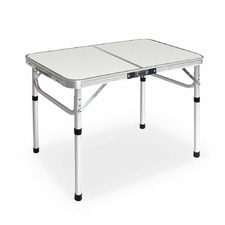 Silver Fulton Metal Folding Table