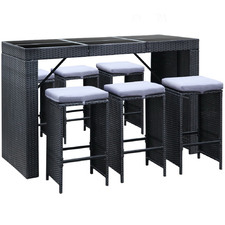 6 Seater Outdoor Bar Table & Stools Set