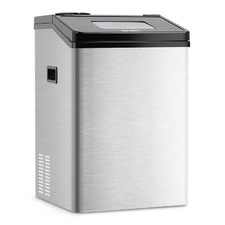 8kg Silver Devanti Stainless Steel Ice Maker