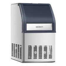 10kg Devanti Stainless Steel Ice Maker