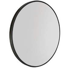Black Minerva Round Wall Mirror