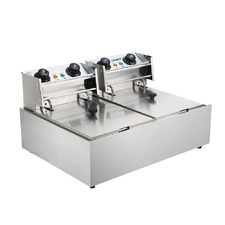 Commercial Twin Electric Deep Fryer