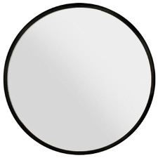 Black Embellir Round Wall Mirror