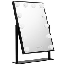 Black Embellir Standing LED Make-Up Mirror