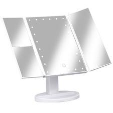 White Embellir Tri-Fold LED Vanity Mirror