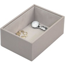 Taupe Mini Watch & Accessories Jewellery Box Layer