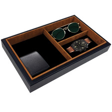 Rectangular 3 Compartment Jewellery Tray