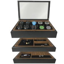 3-Piece Black Urburn Jewellery Box